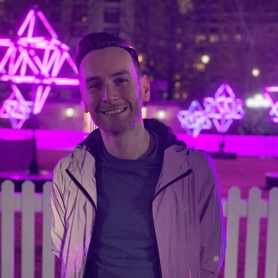 Alistair at the light festival