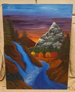 Charlie's landscape piece