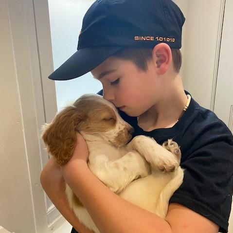 Nicki's new puppy